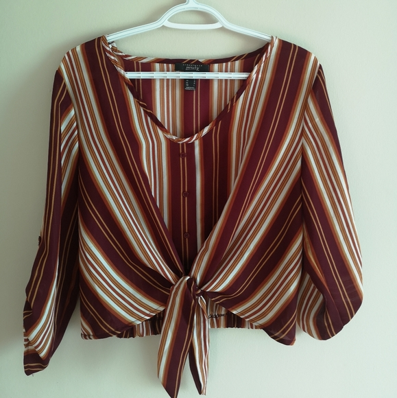 Large loose fit stripped shirt
